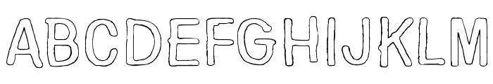 Nirepnirun oknalb Font UPPERCASE