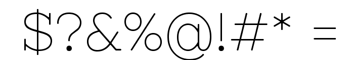 Nixie One Font OTHER CHARS