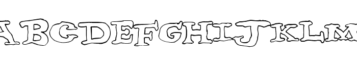 nighthour Font UPPERCASE