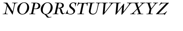 Nicolas Cochin Italic Font UPPERCASE