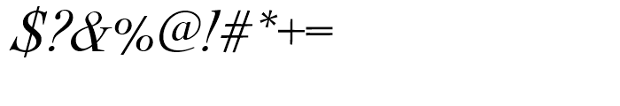Nicolas Cochin Regular Italic Font OTHER CHARS