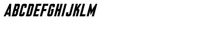 Nicotine Bold Italic Font UPPERCASE
