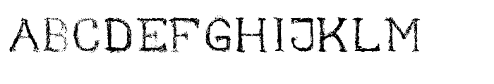 Nihil Regular Font UPPERCASE