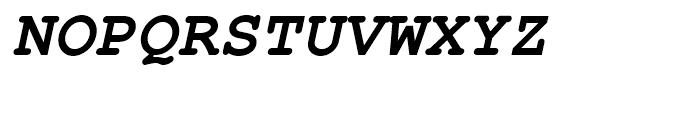 Nimbus Mono L Bold Oblique Font UPPERCASE