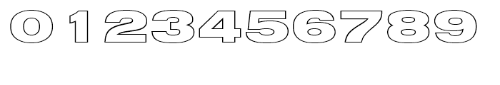 Nimbus Sans Black Extended Outline D Font OTHER CHARS