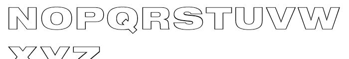 Nimbus Sans Black Extended Outline D Font UPPERCASE