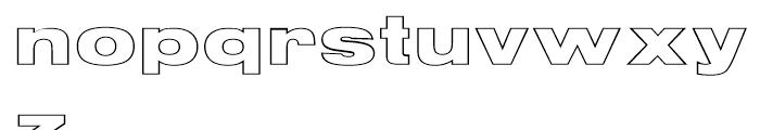 Nimbus Sans Black Extended Outline D Font LOWERCASE