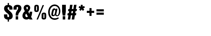 Nimbus Sans L Extra Black Condensed Font OTHER CHARS