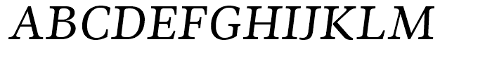 Ninfa Serif Italic Font UPPERCASE