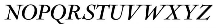 Nicolas Italic Font UPPERCASE