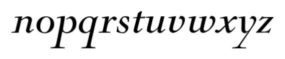 Nicolas Italic Font LOWERCASE