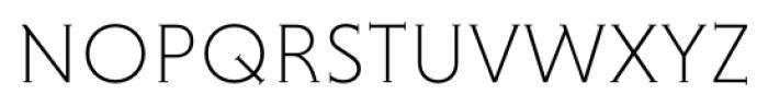 Niveau Serif ExtraLight Small Caps Font LOWERCASE