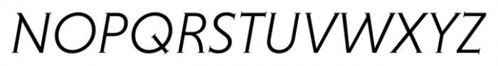 Niveau Serif Light Italic Font UPPERCASE