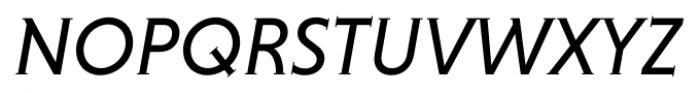 Niveau Serif Regular Italic Font UPPERCASE