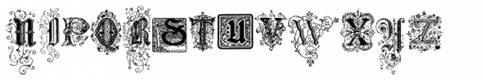 Nice Initials Font UPPERCASE