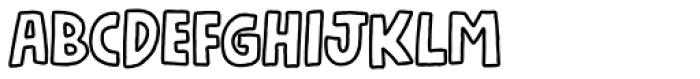 Nickname4 Font UPPERCASE