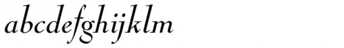 Nicolas Cochin Italic Font LOWERCASE