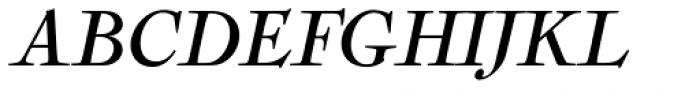 Nicolas Cochin Pro Italic Font UPPERCASE