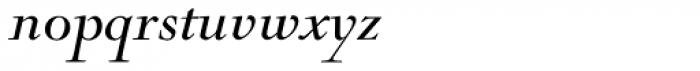 Nicolas Cochin Pro Italic Font LOWERCASE