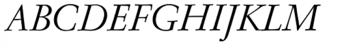 Nicolas Jenson SG Italic Font UPPERCASE