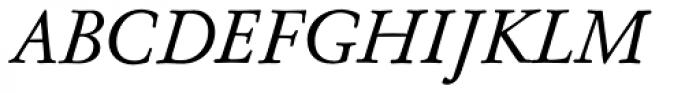 Nicolas Jenson SG Medium Italic Font UPPERCASE