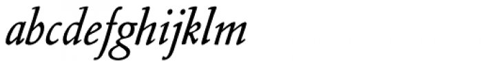 Nicolas Jenson SG Medium Italic Font LOWERCASE