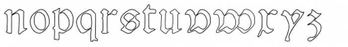 Nicolaus Kesler Void Font LOWERCASE