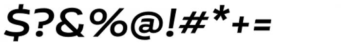 Niemeyer Medium Italic Font OTHER CHARS