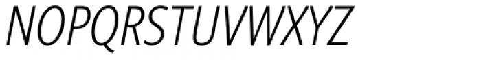 Niko Extra Condensed Extralight Italic Font UPPERCASE