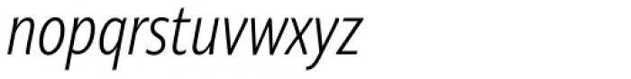 Niko Extra Condensed Extralight Italic Font LOWERCASE