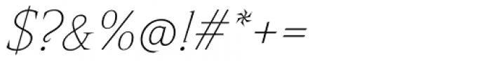 Nikola Thin Italic Font OTHER CHARS