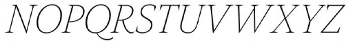 Nikola Thin Italic Font UPPERCASE