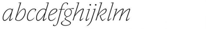 Nikola Thin Italic Font LOWERCASE