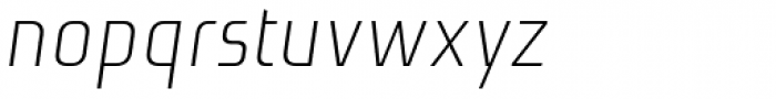Niks Light Italic Font LOWERCASE