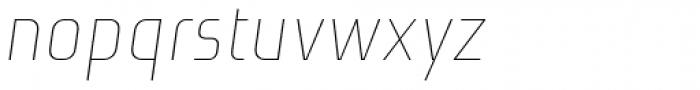 Niks Thin Italic Font LOWERCASE