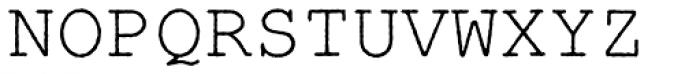 Nimbus Mono Antique L Regular Font UPPERCASE