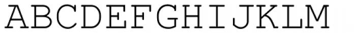 Nimbus Mono L Regular Font UPPERCASE