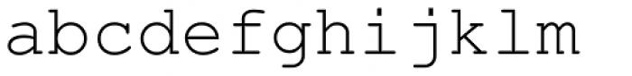 Nimbus Mono L Regular Font LOWERCASE