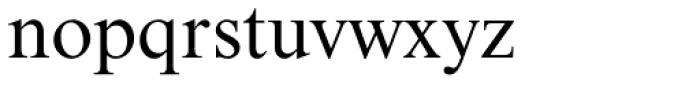 Nimbus Roman No 9 Font LOWERCASE