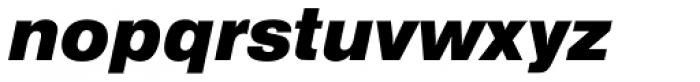 Nimbus Sans Black Italic Font LOWERCASE