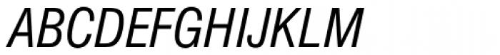 Nimbus Sans D Cond Italic Font UPPERCASE