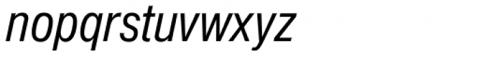 Nimbus Sans D Cond Italic Font LOWERCASE