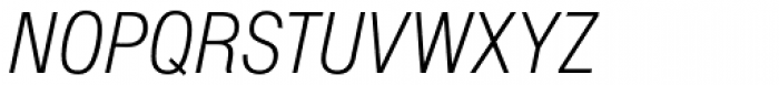 Nimbus Sans D Cond Light Italic Font UPPERCASE