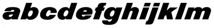 Nimbus Sans D Diagonal Font LOWERCASE
