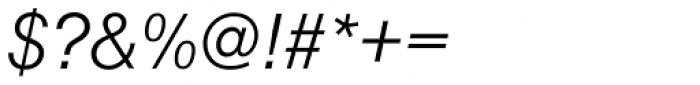 Nimbus Sans D Light Italic Font OTHER CHARS