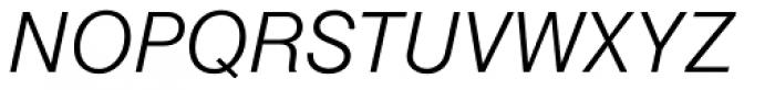 Nimbus Sans D Light Italic Font UPPERCASE