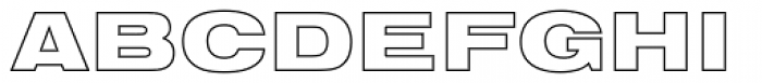 Nimbus Sans D Outline Black Extended Font UPPERCASE