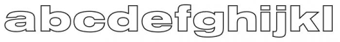 Nimbus Sans D Outline Black Extended Font LOWERCASE