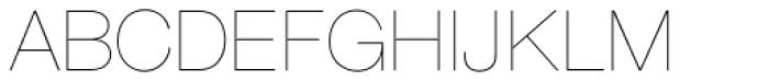 Nimbus Sans D UltraLight Font UPPERCASE