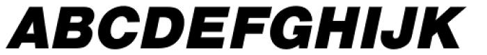 Nimbus Sans L Black Italic Font UPPERCASE